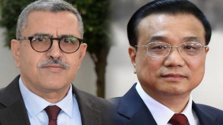 الوزير الأول يتحادث هاتفيا مع نظيره الصيني