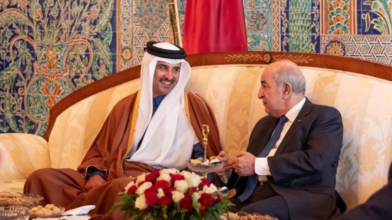 الرئيس تبون يتلقى مكالمة هاتفية من أمير دولة قطر